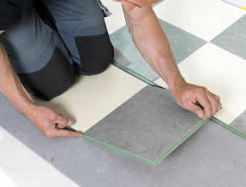 Linoleum Floor Tiles